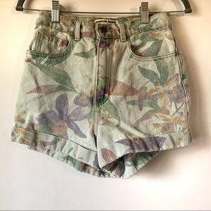 American Apparel Rainbow Tropical Denim Shorts 27
